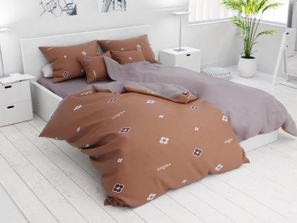 7 részes Kacey barna pamut ágyneműhuzat
