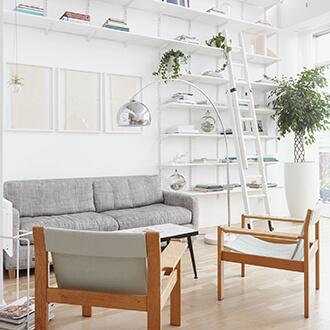 Obývacia izba v škandinávskom štýle inšpirácia
