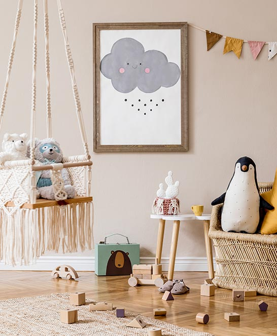 Detská izba v škandinávskom štýle inšpirácia