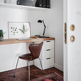 Kancelária v škandinávskom štýle inšpirácia