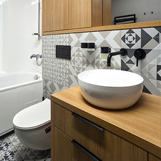 Kúpeľňa v škandinávskom štýle inšpirácia