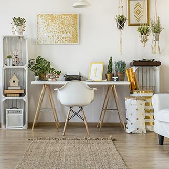 Písací stôl v škandinávskom štýle inšpirácia