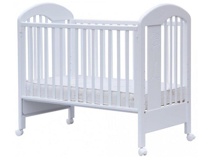 Postýlka s odnímatelným bokem - Scarlett JARDA - bílá 120 x 60 cm