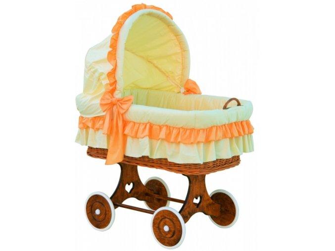 Boudička k proutěnému košíku - Scarlett Martin - oranžová