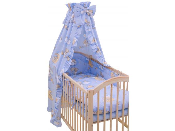 Souprava do postýlky 4dílná - Scarlett Mráček - modrá 90 x 120 cm