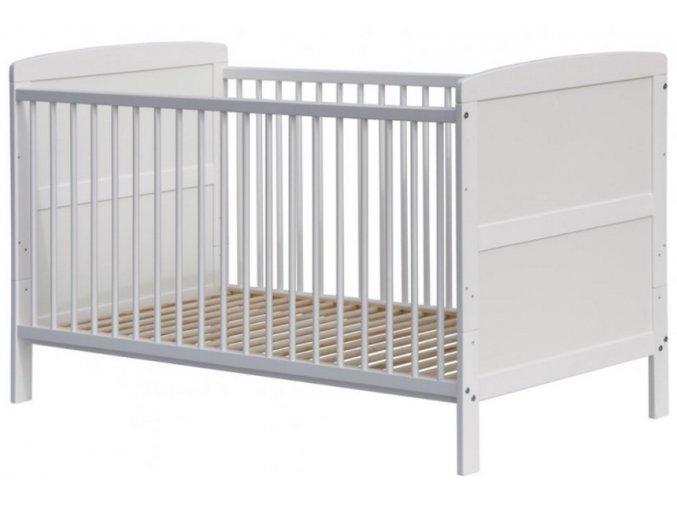 Dětská postýlka 2v1 - Scarlett KACPER (borovice) - bílá 140 x 70 cm