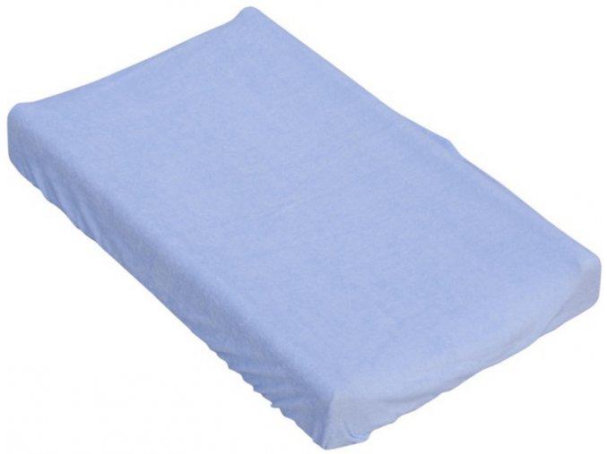 Prostěradlo na přebalovací podložku nebo matraci do kolébky či koše  - modrá 85 x 55 cm