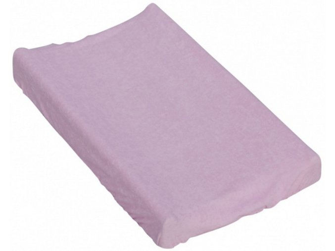 Prostěradlo na přebalovací podložku nebo matraci do kolébky či koše  - růžová 85 x 55 cm