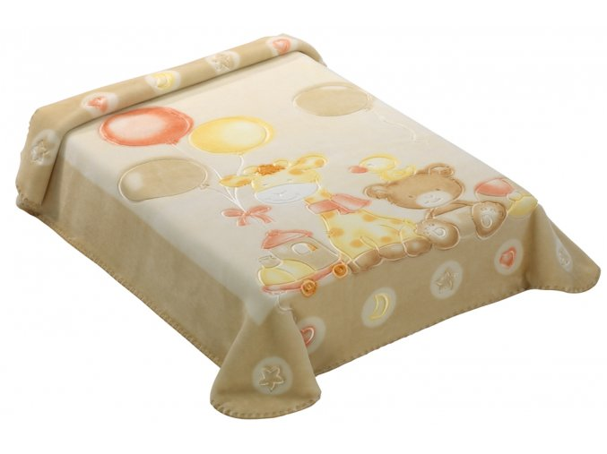 Španělská deka 546 - béžová, 80 x 110 cm