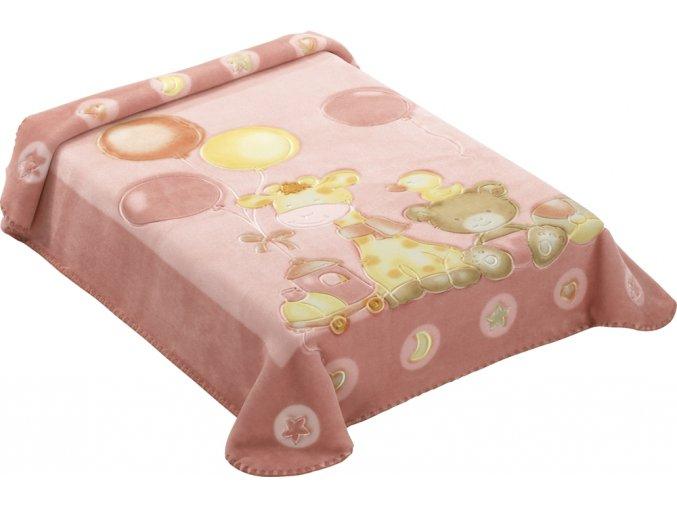 Španělská deka 546 - růžová, 80 x 110 cm