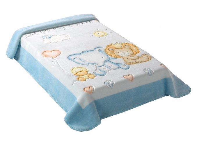 Španělská deka 547 - modrá, 80 x 110 cm