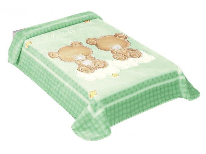 Španělská deka 548 - zelená, 80 x 110 cm