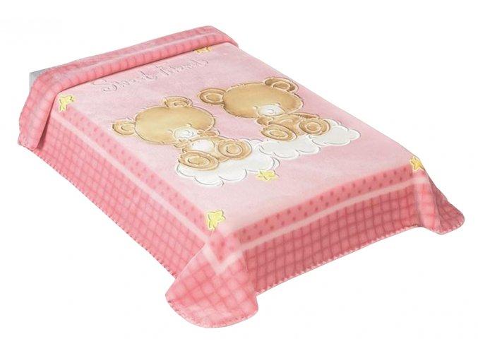 Španělská deka 548 - růžová, 80 x 110 cm