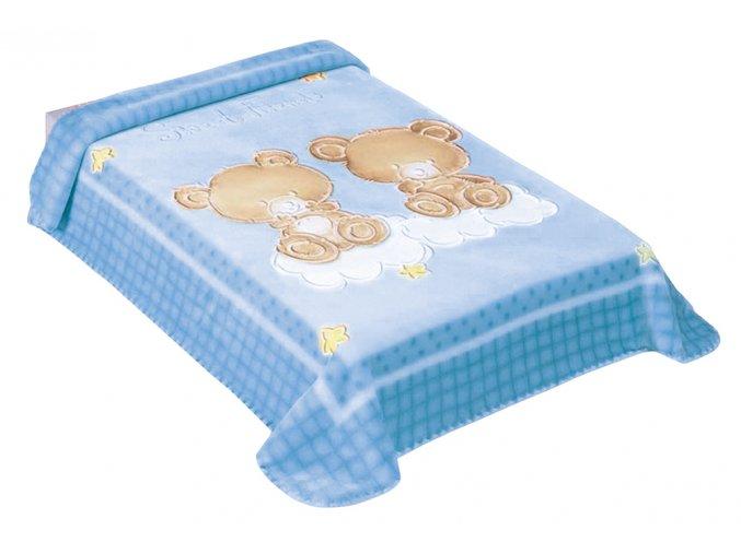 Španělská deka 548 - modrá, 80 x 110 cm