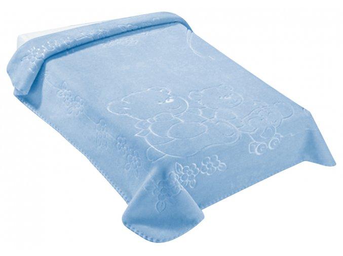 Španělská deka 518 - modrá, 80 x 110 cm