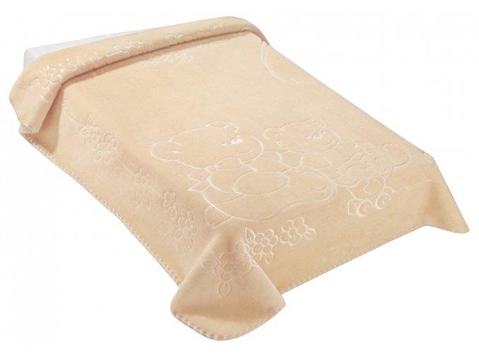 Španělská deka 518 - béžová, 80 x 110 cm
