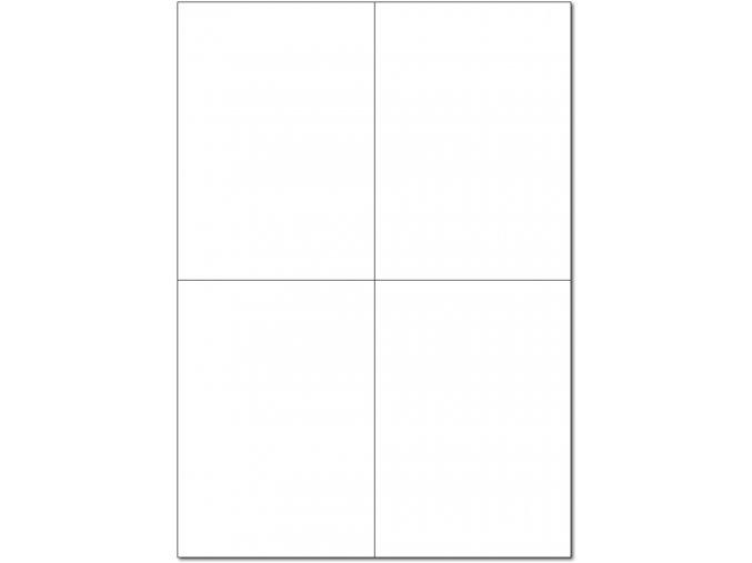 Samolepicí etikety 105 x 148,5 mm, 100 ks A4 v balení