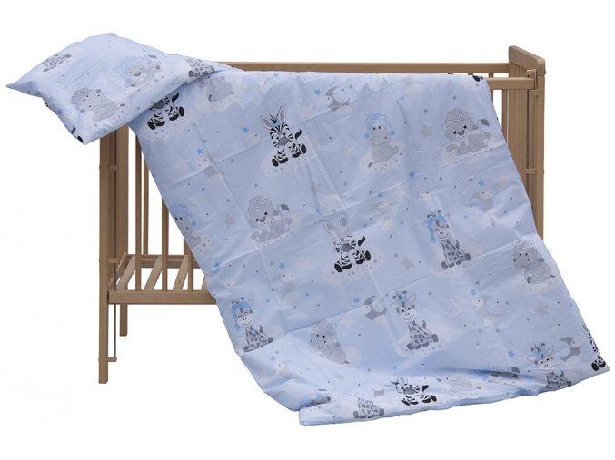 Dětské povlečení 2dílné Scarlett Zebra - modrá 100 x 135 cm
