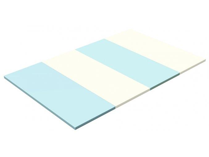 Skládací žíněnka Scarlett Dáša - modrá, 200 x 140 x 4 cm