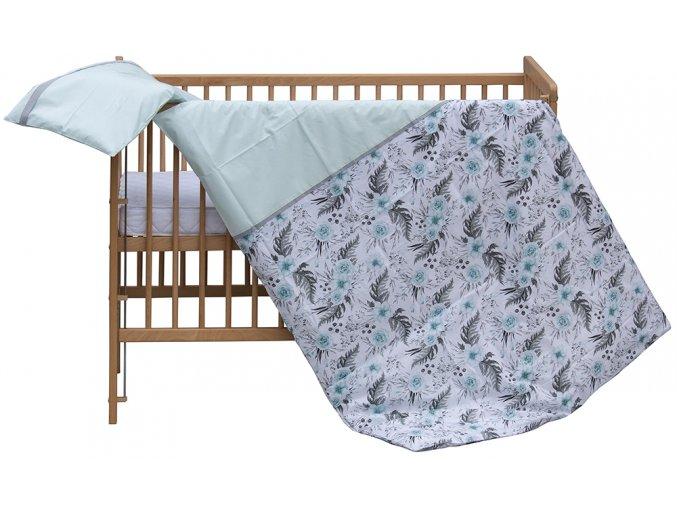 Dětské povlečení 2dílné Scarlett Růžička - modrá 100 x 135 cm