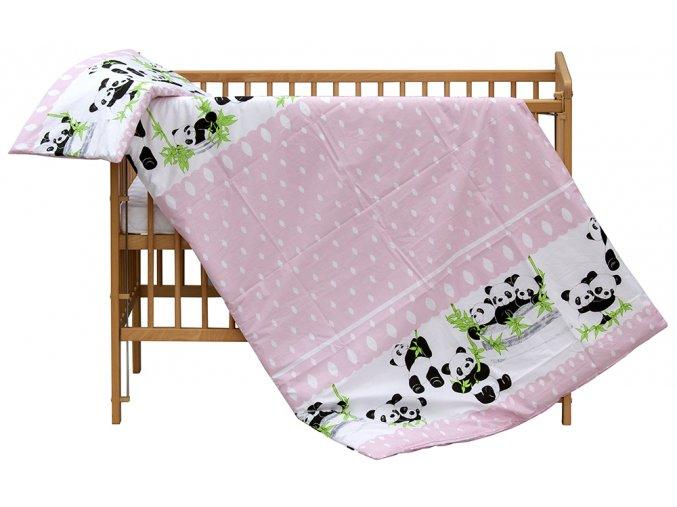 Dětské povlečení 2dílné Scarlett Panda - růžová 100 x 135 cm