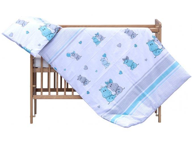 Souprava do postýlky 2dílná Scarlett Pupis - modrá 90 x 120 cm
