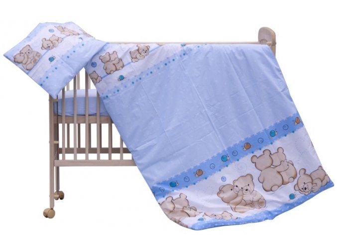 Dětské povlečení 2dílné - Scarlett Matěj - modrá 100 x 135 cm