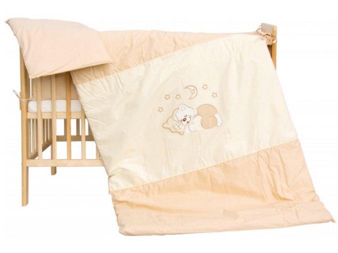 Dětské povlečení 2dílné - Scarlett Měsíček - cappuccino 100 x 135 cm
