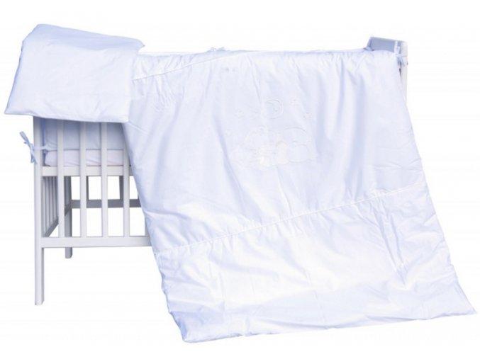 Dětské povlečení 2dílné - Scarlett Měsíček - bílá 100 x 135 cm