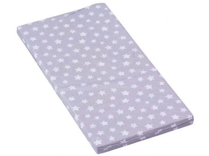 Molitanová matrace do postýlky Scarlett Hvězdička - šedá, 120 x 60 x 6 cm