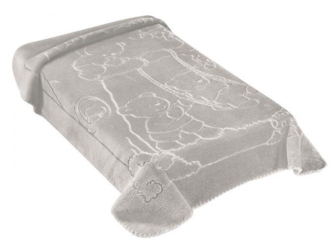 Španělská deka 517 - šedá, 80 x 110 cm