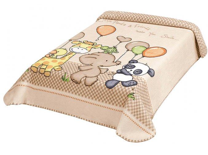 Španělská deka 636 - béžová, 80 x 110 cm