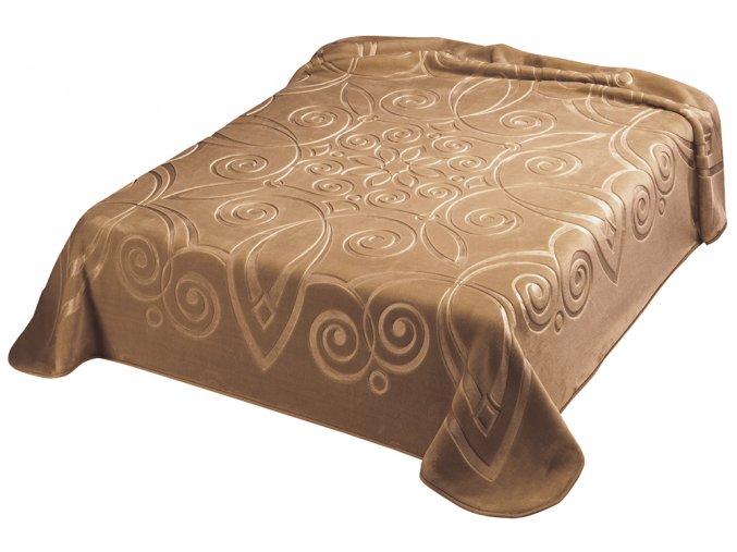 Španělská deka 516 - karamel (18), 220x240 cm