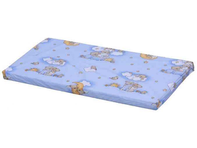 Molitanová matrace do postýlky Scarlett Mráček - modrá, 120 x 60 x 6 cm