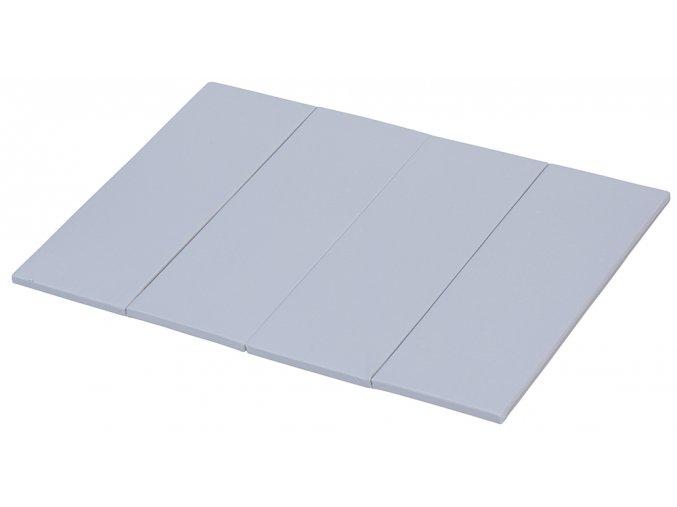Skládací žíněnka Scarlett Dáša - URB – šedá, 200 x 140 x 4 cm