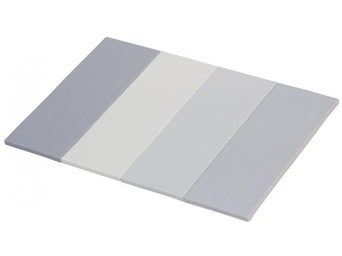 Skládací žíněnka Scarlett Dáša - URB/M – mléčně šedá, 200 x 140 x 4 cm