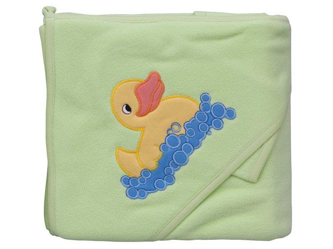 Froté ručník - Scarlett kačenka s kapucí - zelená