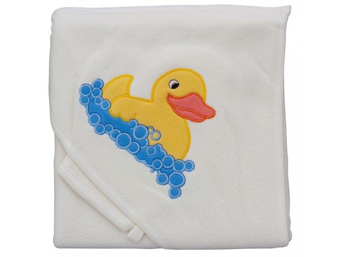 Froté ručník - Scarlett kačenka s kapucí - béžová
