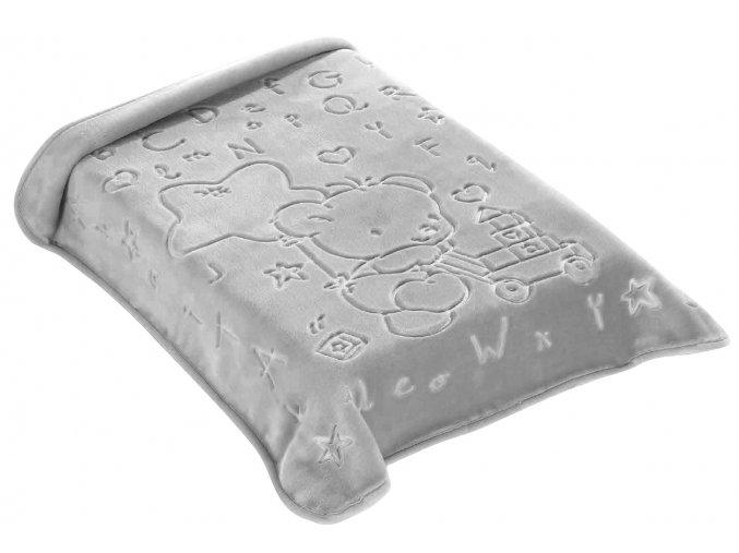 Španělská deka 521 - šedá, 80 x 90 cm