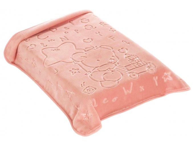 Španělská deka 521 - růžová, 80 x 90 cm