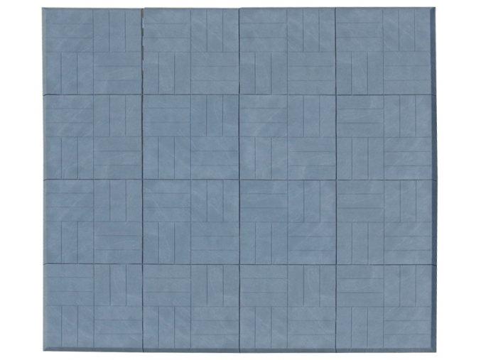 Skládací žíněnka Scarlett Puzzle  – mramor modrá, 180 x 180 x 2