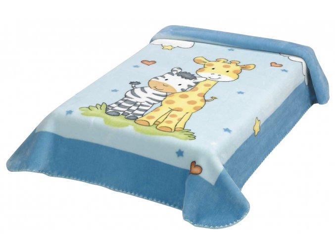 Španělská deka 637 - modrá, 80 x 110 cm