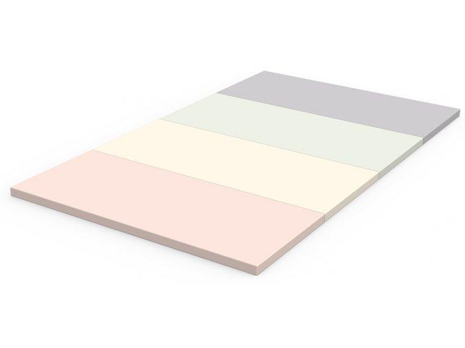 Skládací žíněnka Scarlett Dáša - růžová, 200 x 140 x 4 cm