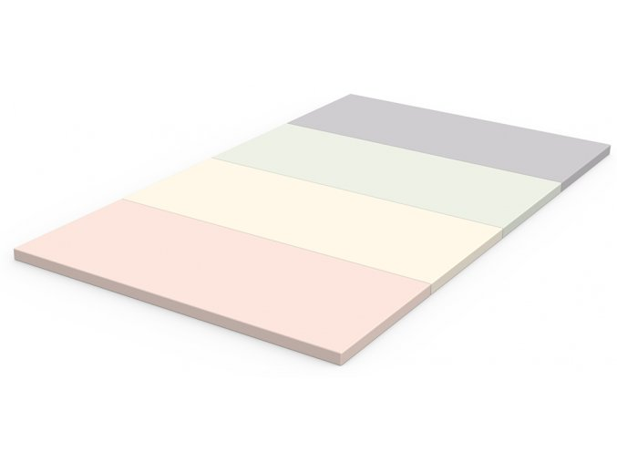 Skládací žíněnka Scarlett Dáša - růžová, 200 x 120 x 4 cm