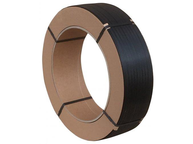 Vázací PP páska 15 mm x 0,80 mm x 1800 m černá