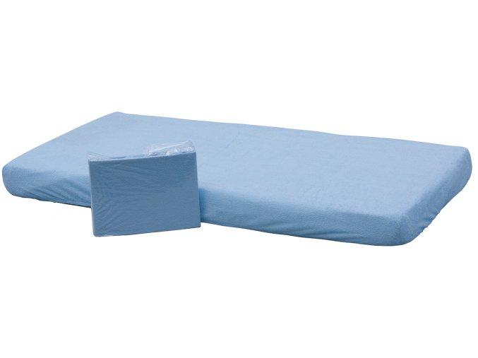 Prostěradlo nepropustné - Scarlett /140x70 cm/ - modrá