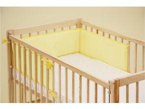 Mantinel do dětské postýlky - Scarlett froté - 180 x 20 cm - žlutá