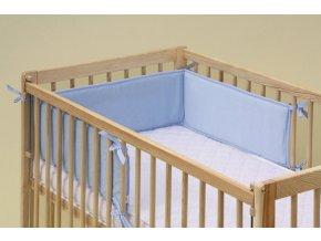 Mantinel do dětské postýlky - Scarlett froté - 180 x 20 cm - modrá