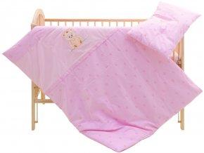 Dětské povlečení 2dílné - Scarlett Méďa - růžové 100 x 135 cm