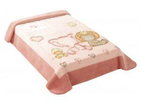 Španělská deka 547 - růžová, 80 x 110 cm